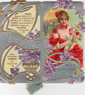 1 Carnet Booklet PARFUM A. Bertilli Calendrier  1905   Almanacco Venus Art Nouveau ZAMPERI Mariani Tamagno - Small : 1901-20