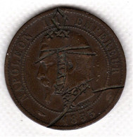 Monnaie, France Francia  Napoleon III, 10 Centimes, 1853  Satirique Rare TB+ - D. 10 Centimes