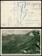 S0008 DR Ostmark AK Feldpost Bahnpoststempel Seegrube Nordkettenbahn P. Innsbruck - Chemnitz 3.7.1942 , Bedarfserhaltu - Briefe U. Dokumente