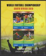 Soccer World Cup 2010 - TUVALU - Sheet MNH - 2010 – Sud Africa