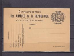 FRANCE CARTE FM - Lettere In Franchigia Militare
