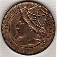 Monnaie, France Francia  Napoleon III, 10 Centimes, 1856  Satirique Rare  SUP  Quasi FDC - D. 10 Centimes