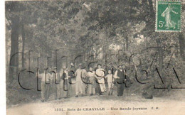 Chaville (92) : GP De Touristes Se Promenant En Forêt En 1910 (animé) PF. - Chaville