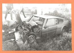 PHOTO ORIGINALE - ACCIDENT DE VOITURE SIMCA MATRA BAGHEERA - CRASH CAR - Coches