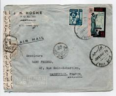 - Lettre Censurée PORT-SAID (Egypte) Pour MARSEILLE (France) 8.5.1955 - A ÉTUDIER - - Covers & Documents