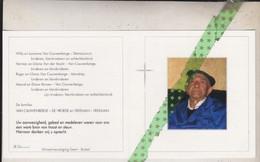 Albert Van Cauwenberge-Vekeman, Sint-Maria-Lierde 1912, Steenhuize-Wijnhuize 2010 - Esquela