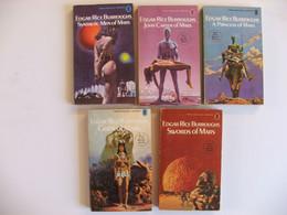 5 Livres Cycle John Carter En Anglais Edgar Rice Burroughs - Other