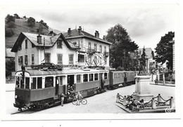 CPA 74 - TANINGES - PLACE DU DR HUMBERT (tramway) - Taninges