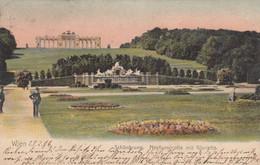 1604) WIEN - SCHÖNBRUNN - Neptunsgrotte Mit Gloriette - Alte LITHO 1906 !! - Castello Di Schönbrunn