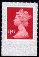 2019 £1.42 Garnet Red U-slits Unmounted Mint. - Série 'Machin'