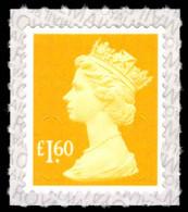 2019 £1.60 Amber Yellow U-slits Unmounted Mint. - Série 'Machin'
