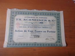 AUTOMOBILES SCHNEIDER (besançon DOUBS) - Unclassified