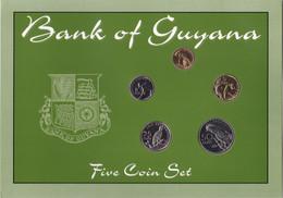 Set Of Guyana 5 Coins 1976-1980 - Guyana