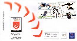 """"""" J.O. SYDNEY 2000 : SINGAPOUR """" Sur Enveloppe 1er Jour. Parfait état FDC - Summer 2000: Sydney"""