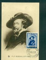 Stamps  Europe  Belgium  Original Maximum Card Carte Maximum  ROUBENS Portrait 1920 - 1905-1934