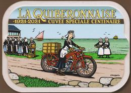 Carte Postale MARGERIN Frank La Quiberonnaise Moto Guzzi 2021 - Postcards