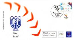 """"""" J.O. SYDNEY 2000 : ISRAEL """" Sur Enveloppe 1er Jour. Parfait état FDC - Estate 2000: Sydney"""