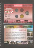 """Libano - Folder Bolaffi """"Monete Dal Mondo"""" FdS Con Serie Completa: Repubblica Terza Serie - Km36/km40 - Lebanon"""