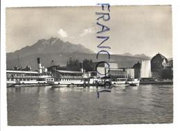Lucerne / Luzern Et Le Mont Pilatus, Bateau-mouche à Quai Sur Le Lac Des Quatre-Cantons - LU Lucerne