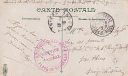 1915 - MARSEILLE (BOUCHES DU RHONE) - CARTE FM Du DEPOT DES ISOLES METROPOLITAINS => THIERS - WW I