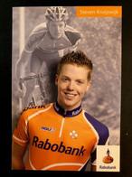 Steven Kruijswijk - Rabobank - 2007 - Carte Card - Cyclists - Cyclisme - Ciclismo -wielrennen - Cycling