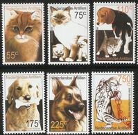 Dutch Antilles 2001 Cats & Dogs 6 Val MNH 2103.2712 Nederlandse Antillen Persian, Birmese, Brack, Retriever, Shepherd - Sin Clasificación