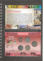 "Giordania - Folder Bolaffi ""Monete Dal Mondo"" FdC Abdullah Ibn Al-Hussein - Circulation - Jordan"