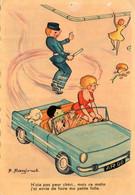 Par Raginel - CP - Femme Au Volant -  Ce Matin, J'ai Envie De Faire Ma Petite Folle -  1968. - Scan Du Verso - - Otros Ilustradores