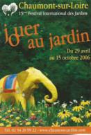 F2 / Advertising Card CARTE CPM Publicitaire PUB Carte De Collection  TOURISME Chaumont-sur-loire 2006 - Labor Unions