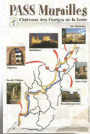 F2 / Advertising Card CARTE CPM Publicitaire PUB Carte De Collection  TOURISME PASS MURAILLES  LOIRE - Labor Unions