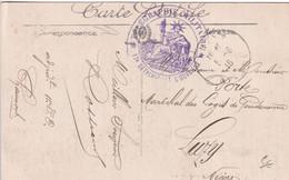 1916 - CHAUMONT (HAUTE MARNE) - CARTE FM De 11° DETACHEMENT OUVRIERS TELEGRAPHIE ! => LUZY (NIEVRE) - WW I