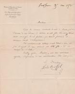 1872  GRAND-JOUAN Par NOZAY (44) Ecole Régionale D'Agriculture - écarts D'intempérance - Renvoi De L'école - Documentos Históricos