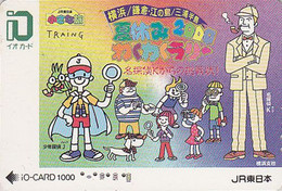 Carte Prépayée JAPON - CINEMA - Détective SHERLOCK HOLMES - JAPAN Prepaid JR IO Card - 12724 - Cinema