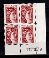 Coin Daté Sabine 1965 N** Du 11.10.79 - 1980-1989