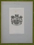 Ex-libris Héraldique Illustré XIXème -  BORROMEO ARESE - Bookplates