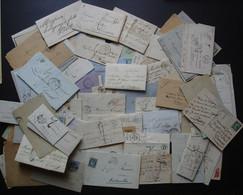 Lot De 110 Lettres Entre 1830 Et 1930 (françaises), Préphilatélie, Classiques, Semi Modernes, Voir Photos De Détail - Collezioni