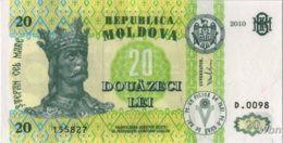 Moldavie 20 Lei (P13) 2010 -UNC- - Moldova