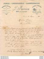 FORGE J.DARRÉON à SOS    .......... CORRESPONDANCE COMMERCIALE  DE 1910 - Artigianato