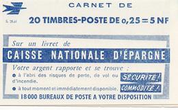 Carnet Marianne De Decaris Série  S.21.61 ** - Definitives
