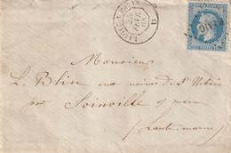 """Ambulant LAIGLE à PARIS  D  (Jour) + Griffe / 29 """"P LAIG""""   (TTB). - 1849-1876: Classic Period"""
