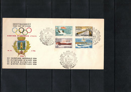 Italia / Italy 1956 Olympic Games Cortina D'Ampezzo FDC - Winter 1956: Cortina D'Ampezzo