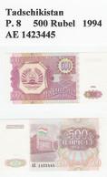 Tadschikistan  P. 8  500 Rubel 1994 UNC - Tajikistan