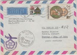 CSSR - Interflug Sonderflug Berlin Havanna 1978 Zuleitungspost Weltfestspiele - Sobres