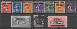 Memel Lot De 10 TP 1920-22 N&o - Klaïpeda