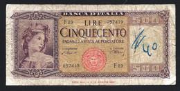 ITALIE - 1BILLETS De 500 LIRE - Circulé - Nombreux Plis - AB - Non Classificati