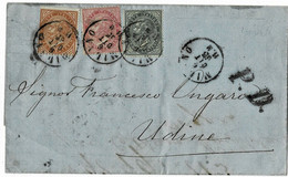 "1865, 3 Farben-Brief, "" Milano ""   A4331 - Marcofilía"