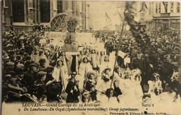 LEUVAIN.—GRAND CORTÈGE DU 19 AVRIL 1908 - Leuven