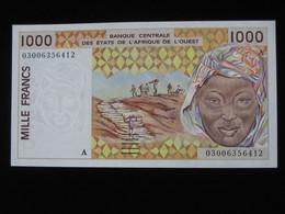 COTE D'IVOIRE - 1000 Francs 2002-2003 A - Banque Centrale Des Etats De L'Afrique De L'Ouest  **** EN ACHAT IMMEDIAT **** - Côte D'Ivoire