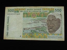 COTE D'IVOIRE - 500 Francs 2002-2003 A - Banque Centrale Des Etats De L'Afrique De L'Ouest  **** EN ACHAT IMMEDIAT **** - Côte D'Ivoire