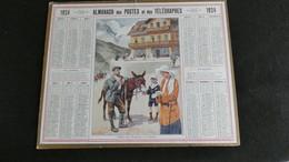 Almanach Des Postes Et Télégraphes 1924 - Départ Pour L' Escursion - Le Lautaret  - Bon état Complet- Calendrier - Big : 1921-40